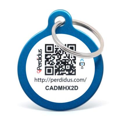 Placa para perro NFC azul