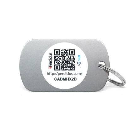 Placa para perro militar NFC gris