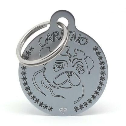 Placa para perro raza Carlino