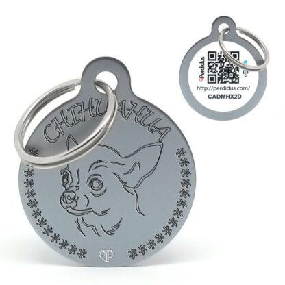 Placa para perro raza Chihuahua