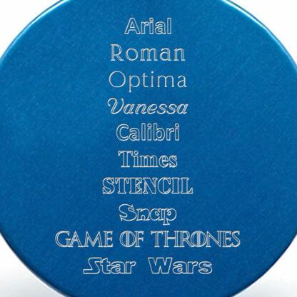Tipografías placa azul
