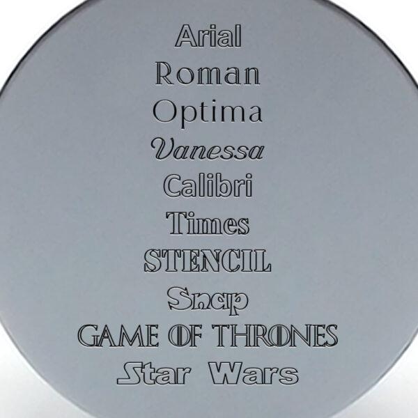 Tipografías placa gris