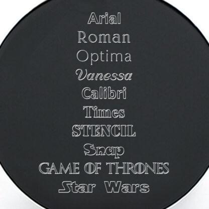 Tipografías placa negra