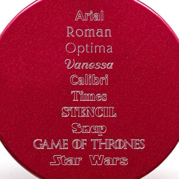 Tipografías placa roja