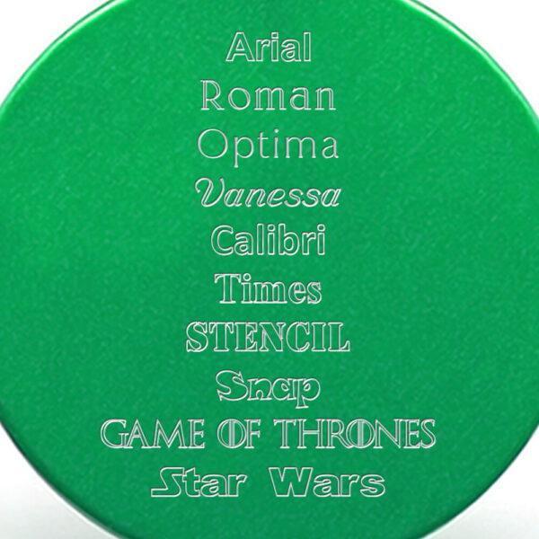 Tipografías placa verde