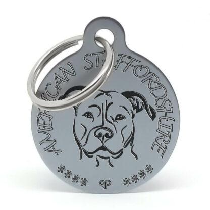 Placa para perro raza American Staffordshire Terrier