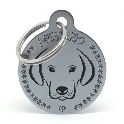 Placa para perro raza Mestizo