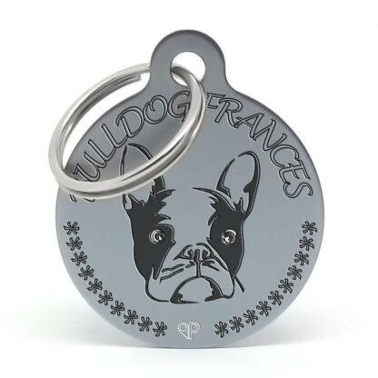 Placa para perro raza Bulldog Francés