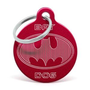 Placa para perro - Batdog (rojo)