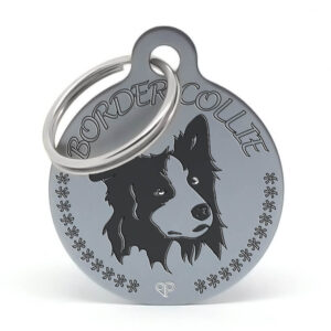 Placa para perro raza Border Collie