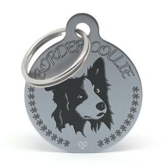 Placa para perro raza Border Collie