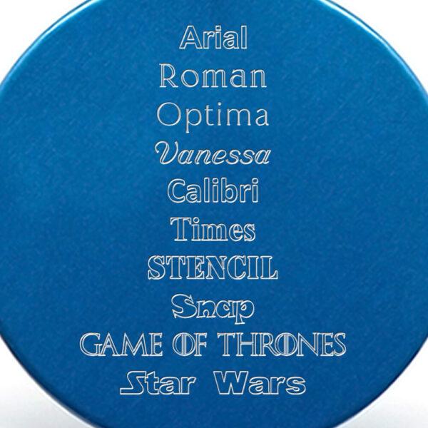 Tipografía placa azul