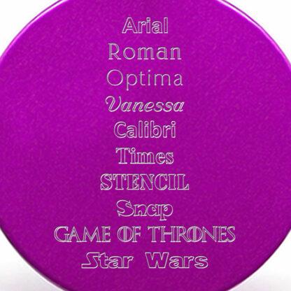 Tipografías placa lila