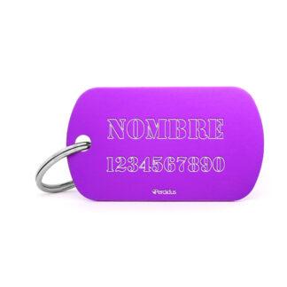 Placa identificativa militar lila