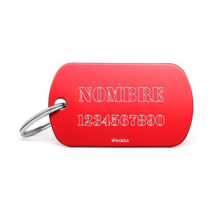 Placa identificativa militar roja