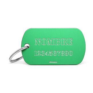 Placa identificativa militar verde