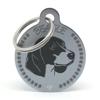 Placa para perro raza Beagle