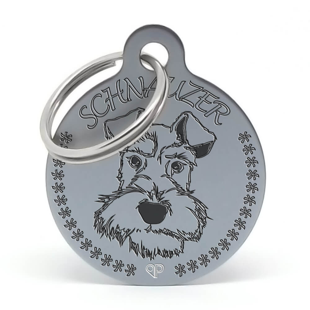 Placa para perro raza Schnauzer