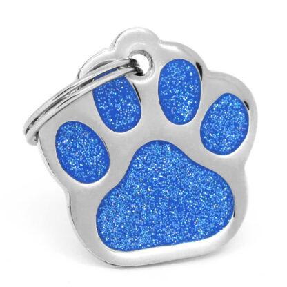 Placa para perro Paw Blue Orion