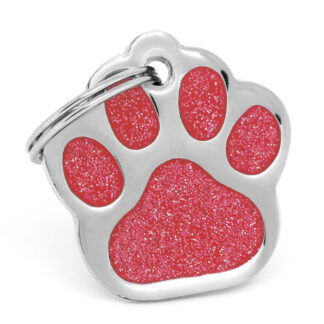 Placa para perro Paw Red Orion