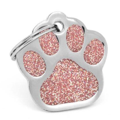 Placa para perro Paw Pink Orion