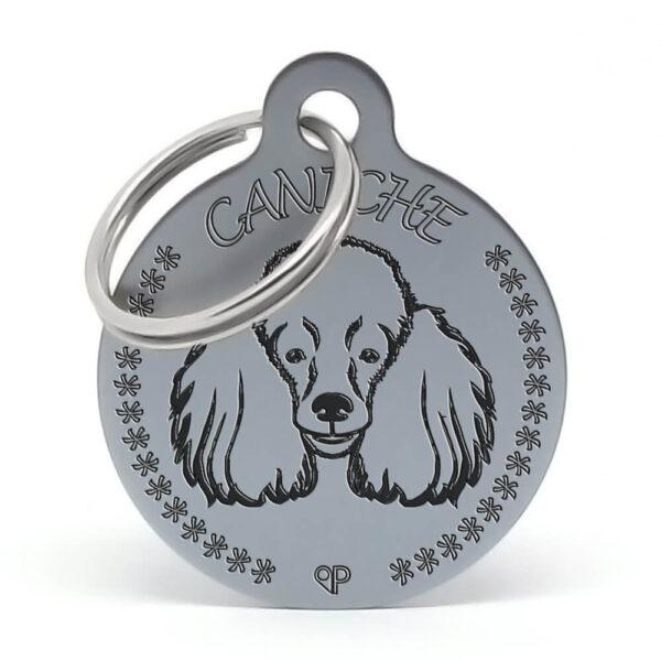 Placa para perro - Caniche G (oxid)