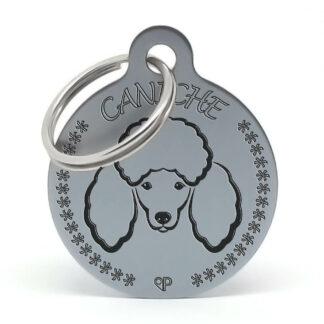 Placa para perro - Caniche M (oxid)