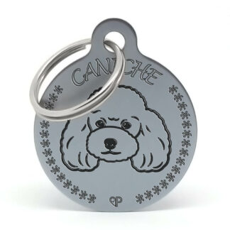 Placa para perro - Caniche T (oxid)