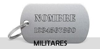 Placas identificativas militares
