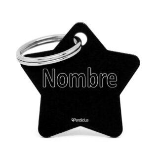 Placa para gato - Star (negro)
