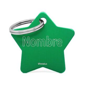 Placa para gato - Star (verde)