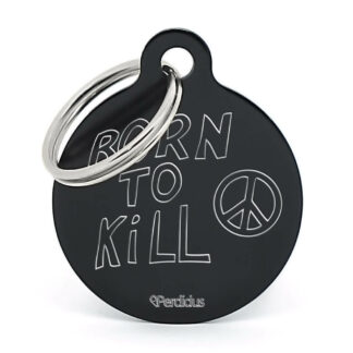 Placa para perro born to kill