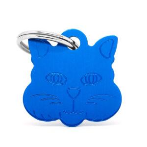 Placa identificativa gato azul