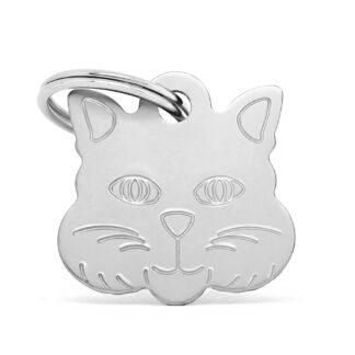 Placa identificativa gato plata
