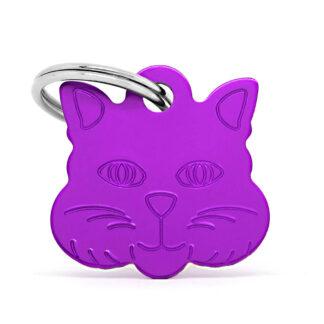 Placa identificativa gato lila