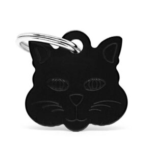 Placa identificativa gato negra