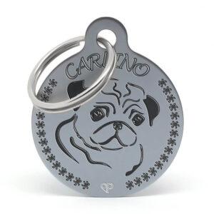 Placa raza perro - Carlino