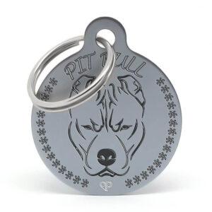 Placa raza perro - Pitbull