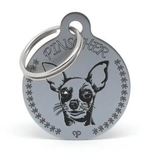 Placa raza perro - Pinscher
