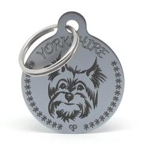 Placa raza perro - Yorkshire