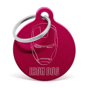 Placa para perro - Iron Dog (rojo)