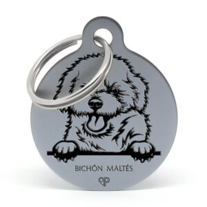 Placa para perro - Bichón Maltés patas