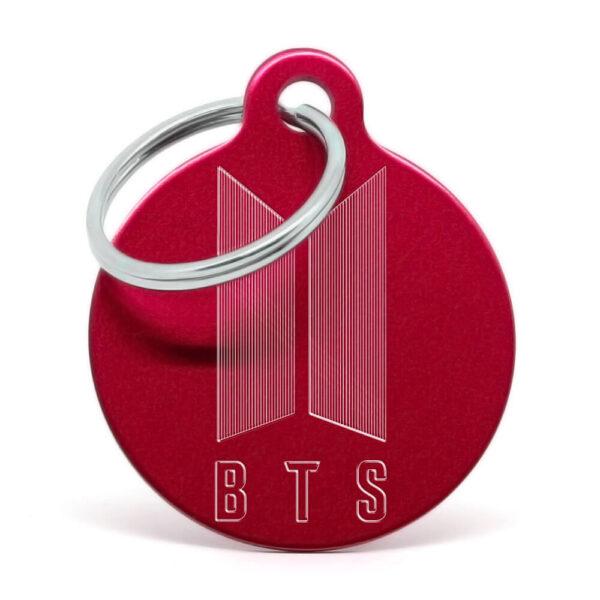 Placa para perro - BTS (rojo)