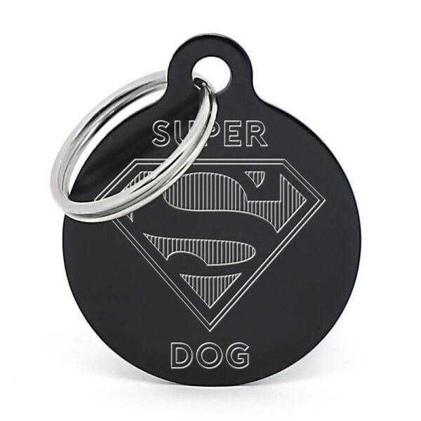 Placa para perro - Superdog (negro)