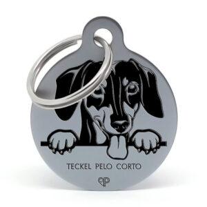 Placa raza perro - Teckel pelo corto