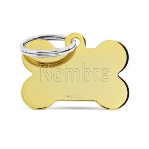 Placa para perro - Gold Bone