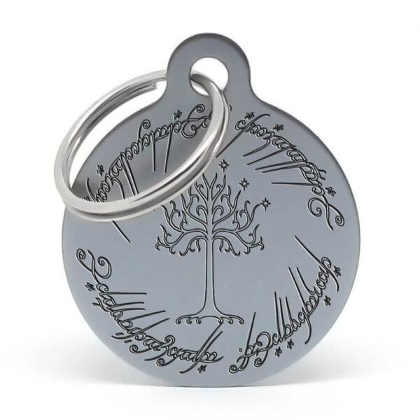 Placa para perro - El señor de los anillos (gris)