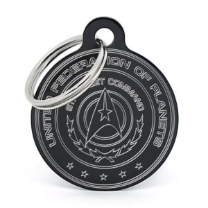 Placa para perro - Star Trek (negro)