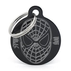 Placa para perro - Spiderdog (negro)