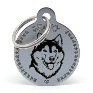 Placa para perro - Husky